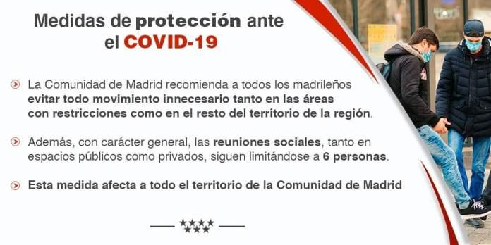 Ocho zonas más restringidas; más de un millón de madrileños afectados 8