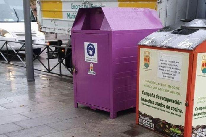 Contenedores de mascarillas en Alcorcón