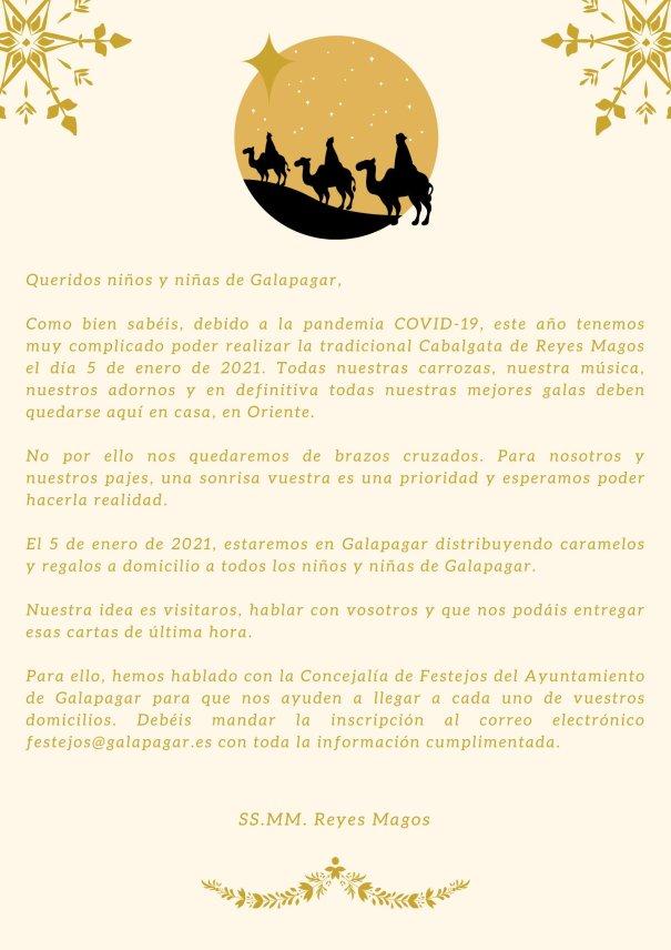Galapagar | Una carta de los Reyes Magos para los niños del municipio 1