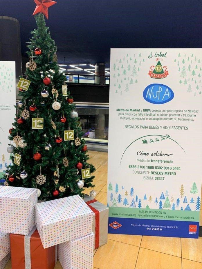 Un Metro, doce causas: un árbol de Navidad solidario en cada línea 13