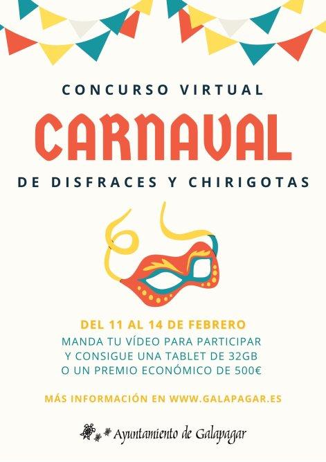 Carnaval en Galapagar con un concurso virtual de disfraces y chirigotas 1