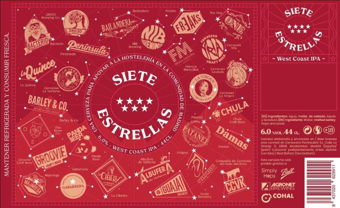 '7 Estrellas', la cerveza para apoyar la hostelería madrileña 1