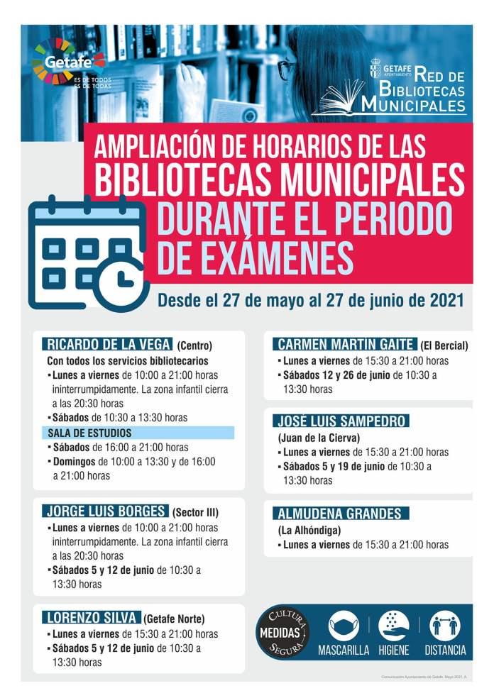 Las bibliotecas de Getafe amplían su horario durante el período de exámenes 1