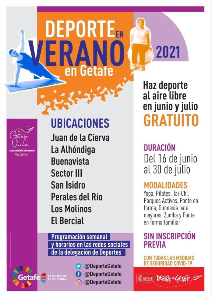 Arranca el programa 'Deporte en verano 2021' de Getafe 1
