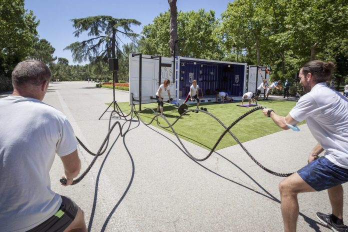 Cubo Gym Madrid: el gimnasio portátil de los parques madrileños 4