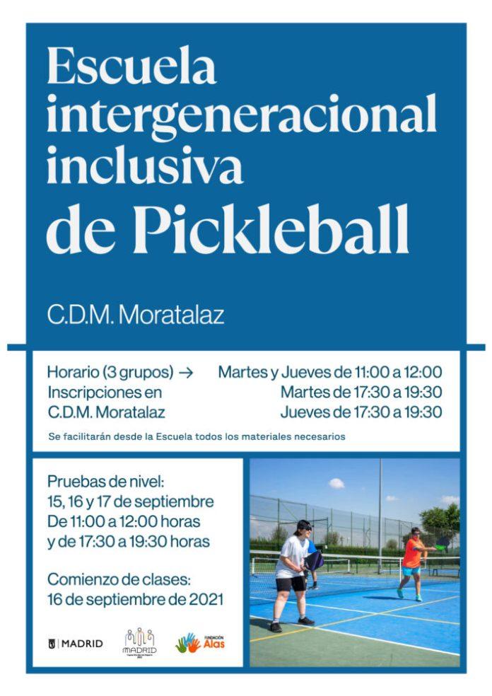 Se inaugura la primera escuela intergeneracional e inclusiva de pickleball en Moratalaz 1