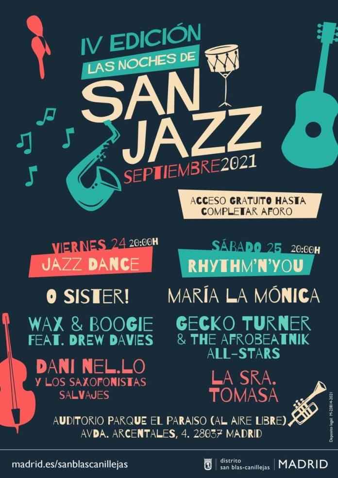 Noches de San Jazz en Madrid el 24 y 25 de septiembre 1