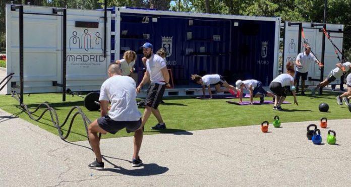Cubo Gym Madrid llega al parque Juan Carlos I de Barajas 1