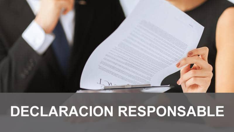 DECLARACION RESPONSABLE, tramitacion de licencias de apertura y actividad