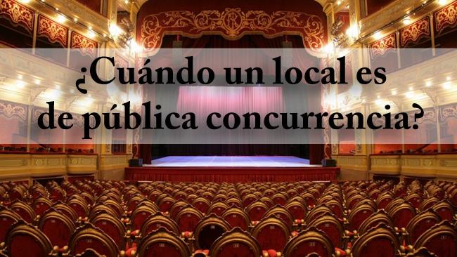 Locales de pública concurrencia
