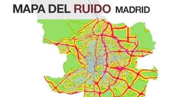 Mapa de Ruio de Madrid ZPAE