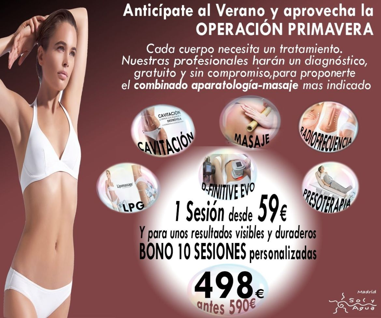 Spa, estética, masajes y rayos UVA - Oferta estética silueta