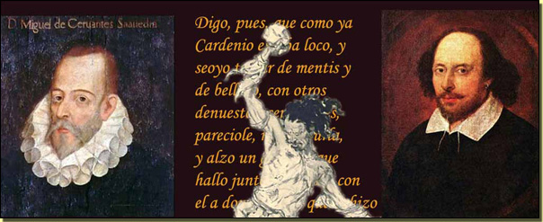 Cervantes, Cardenio, Shakespeare