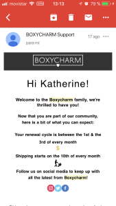 boxycharm como comprar desde españa en español my mall box beauty box 2