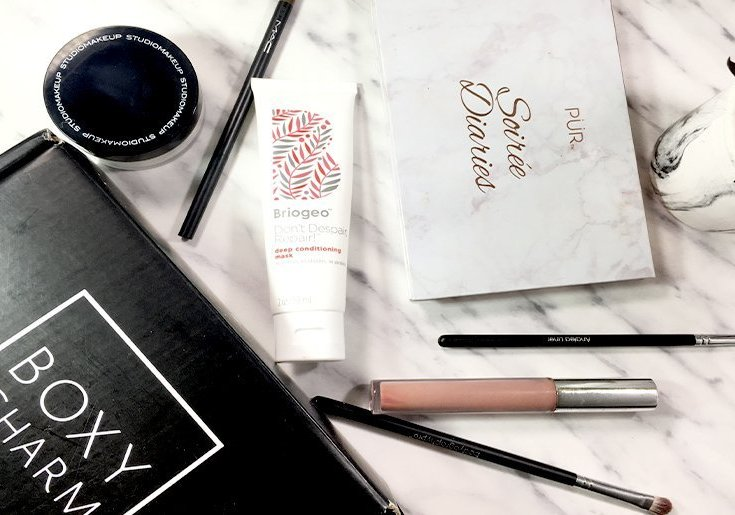 boxycharm septiembre 2017 pur briogeo colourpop studio makeup beauty box mac bodyography pro