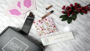 boxycharm noviembre boxycharm beauty box cover fx spray iluminador winky lux kitten palette luxie brochas knc mascarillas labiales laqa and co labial