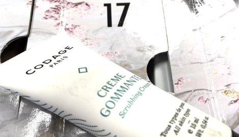 Asos calendario de adviento 2017 Codage creme gommante