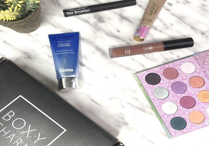 boxycharm abril 2018 colourpop adesse the browgal tarte