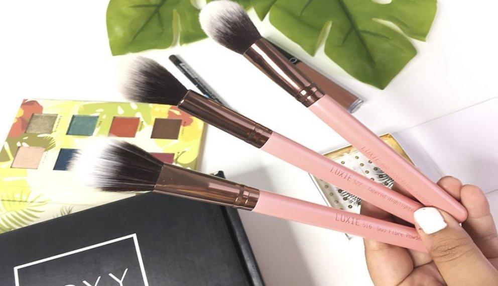 boxycharm junio alamar cosmetics reina del caribe palette pestañas postizas luxie brochas jontenblu ofra labiales 2