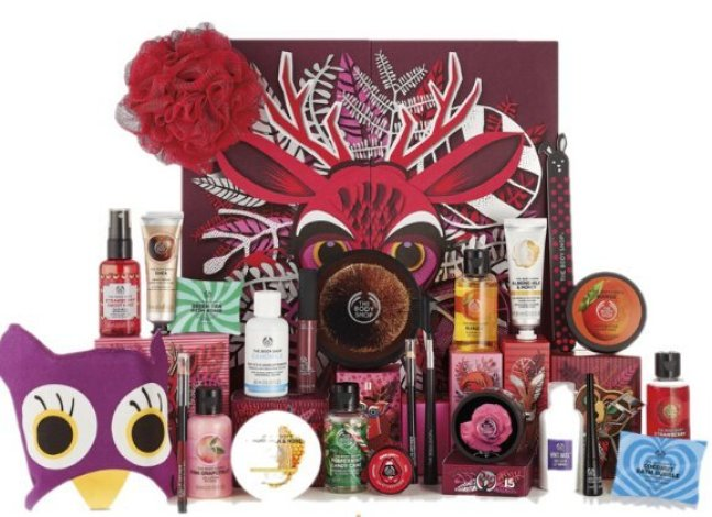 calendario de adviento the body shop 2018 calendario de adviento 2018 advent calendar beauty calendario adviento 2018 spoilers