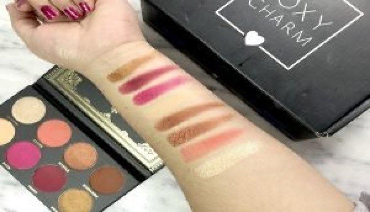 boxycharm noviembre ace beauty paleta de sombras glitter cover fx nova jonteblu pestañas postizas luxie brochas de luxie