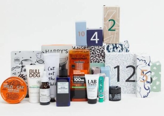 calendario de adviento asos grooming hombre 2020 beauty advent calendar asos madridvenek