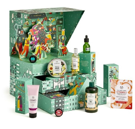 calendario de adviento de belleza 2021 calendario de adviento The Body Shop 2021 Share Love & Joy comprar calendario de adviento maquillaje 2021
