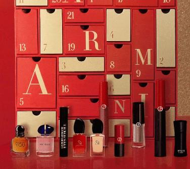 calendario de adviento maquillaje Armani beauty 2020 en 2021 calendarios de adviento maquillaje outlet