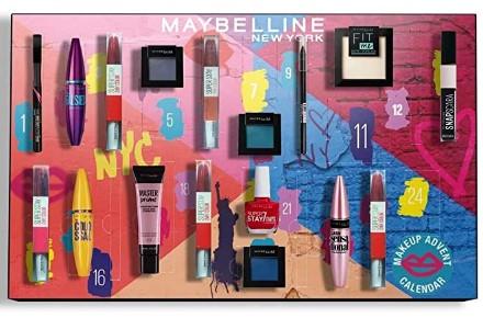 calendario de adviento maquillaje maybelline 2020 en 2021 calendarios de adviento maquillaje outlet