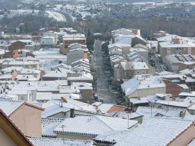 Madrigal de la Vera nevado