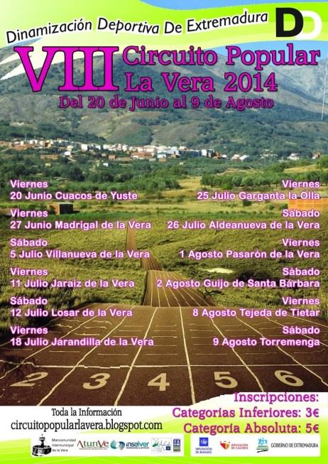 VIII Circuito Popular La Vera 2014