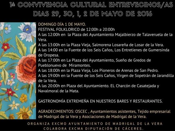 Entrevecinos 2016 - Programa 2/2