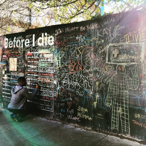 The Before I Die wall in downtown Asheville