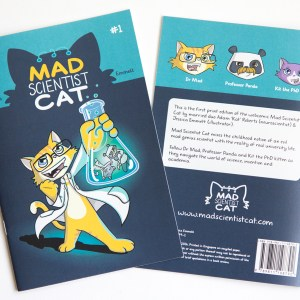 Mad Scientist Cat - comic in print
