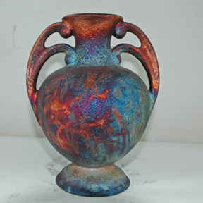 Small Raku Fired Vase artwork