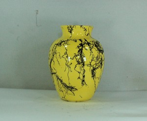Classic Small Yellow Horse Hair Vase