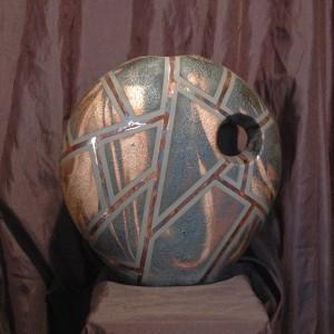 Large Raku Deco Vase