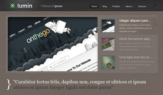Lumin WordPress Theme – Premium WordPress Theme for 03/12