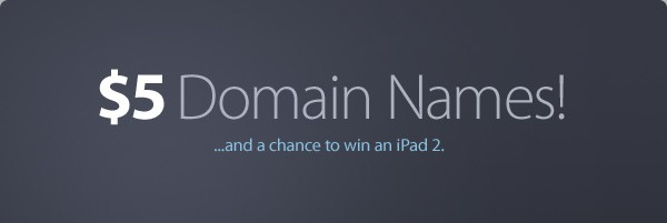 (mt) Offers $5 Domain Names and a Chance to Win an Ipad 2