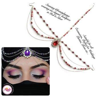 Madz Fashionz UK Beautybyaya Bridal Matha Patti Silver Red