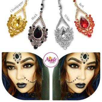 Madz Fashionz UK: ItsCutieBeauty Exquisite Nawab Bridal Maang Tikka Headpiece Gold White Red Champagne Black Silver