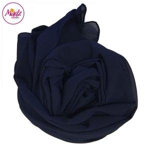 Madz Fashionz UK: Long Maxi Plain Chiffon Navy Blue Muslim Hijabs Scarves Shawls