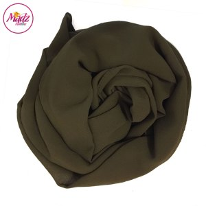 Madz Fashionz UK: Long Maxi Plain Chiffon Olive Green Muslim Hijabs Scarves Shawls