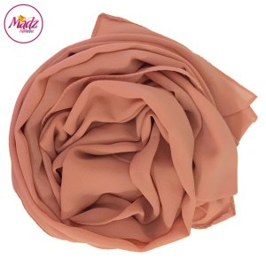 Madz Fashionz UK: Long Maxi Plain Chiffon Peach Pink Muslim Hijabs Scarves Shawls