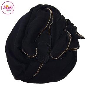 Madz Fashionz UK: Long Maxi Plain Luxury Cotton Pellet Black Muslim Hijabs Scarves Shawls