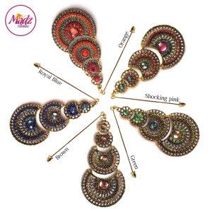 Madz Fashionz UK: Simmysbeauty Hijab Pin, Hijab Jewels Stick Pin Brown Royal Blue Green Pink Orange