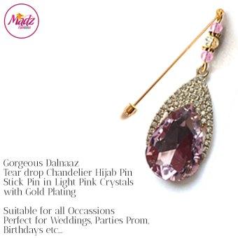 Madz Fashionz UK: Dalnaaz Chandelier Drop Hijab Pin Stick Pin Hijab Jewels Hijab Pins Gold Light Pink