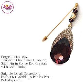 Madz Fashionz UK: Dalnaaz Chandelier Drop Hijab Pin Stick Pin Hijab Jewels Hijab Pins Gold coffee red
