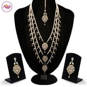 Madz Fashionz UK: Noor Jehan Kundan Long Haar Necklace Earring Tikka Set