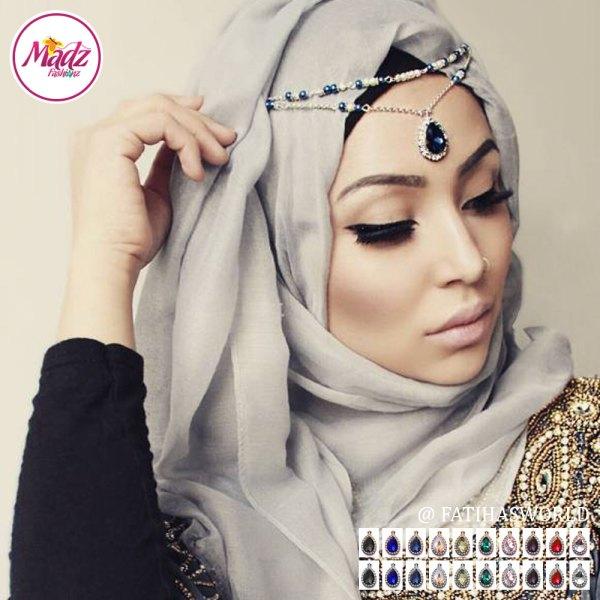 Madz Fashionz USA - Fatiha World Tear Drop Headpiece Gold Silver Finish